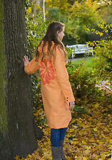 TRU RAIN Ladies Raincoat Friesennerz Orange Flower Raincoat RAIN jacket