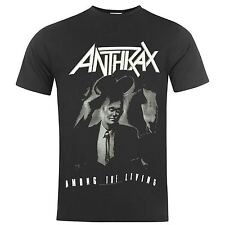 Official Anthrax Among the Living T-Shirt Mens Black Tee Shirt Top
