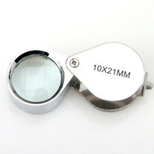 10X 20X 30X 21mm Jewellery Loupe Eye Glass Magnifying Magnifier Lens Folding 1GU