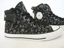 Converse Chuck Taylor Uptown Zip Leopard Womens Girls Trainers Black Grey Camo
