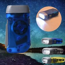 New Protable Camping LED Flashlight Torch Wind up Hand Pressing Crank Flashlight