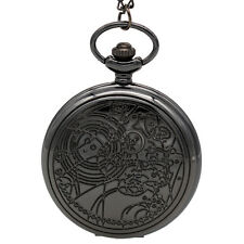 Hot Men's Quartz Pocket Watch Cosplay Movie Doctor Who Necklace Chain Pendant