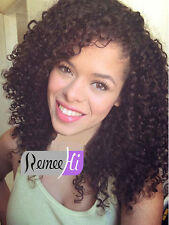 """Small Afro Curly 100% Indian Remy Human Hair Lace Front /Full Lace Wig 12""""-22"""""""