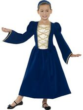 Child Tudor Princess Girl Outfit Fancy Dress Costume Book Week Princess Kids
