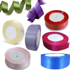 2.5cm LOT 25 Yard Polyester Ribbon Satinband Wedding Party Craft 8 Colors