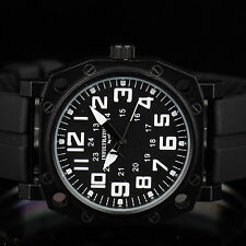 INFANTRY INFILTRATOR Mens Analog Wrist Watch Police Style 24hrs Military Rubber
