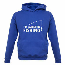 I'd Rather Be Fishing - Kids / Childrens Hoodie - Fish - Angling - Equipment
