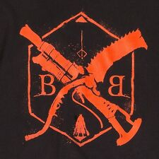 Bloodborne Hunter Born of The Blood Graphic 100% Cotton T-Shirt LOGO TEE Men's