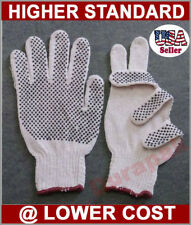 36 Pairs Cotton /Poly Work Gloves  Lg, Extra Large w / PVC Dot Extra Grip White.