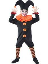 Kids Evil Jester Halloween Costume Child Boys Joker Clown New Fancy Dress Outfit