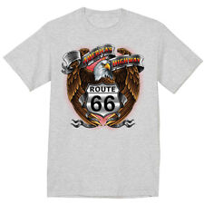 big and tall shirt for men rt 66 eagle route 66 sign America's Highway tall tee
