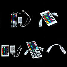 For 3528 5050 RGB LED Strip Light 3/10/24/44 Key IR Remote Wireless Controller~