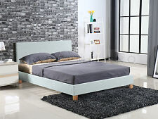 New Luxury Milan Queen Size Bed Frame Base Mattress Support Black White or Grey