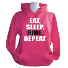 ADULTS EAT SLEEP RIDE REPEAT HORSE RIDING HOODIE