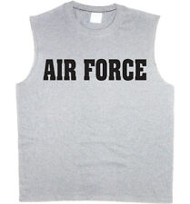 Men's sleeveless t-shirt US Air Force usaf muscle tee tank top tshirt
