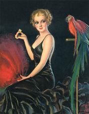 Red Feathers and a Cracker by Bradshaw Crandell (Vintage Art Print)