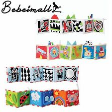 Cloth Clip on Crib Toy Double Sided  Baby Development Pram Book Crib Bumper