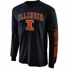 Illinois Fighting Illini Navy Blue Big Arch N' Logo Long Sleeve T-Shirt