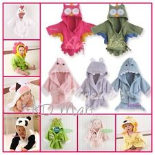 New Baby girl boys Animal Owl Hippo Shark hooded bath/beach towel bathwrap 0-24M