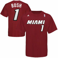 adidas Chris Bosh Miami Heat Red Net Number T-Shirt