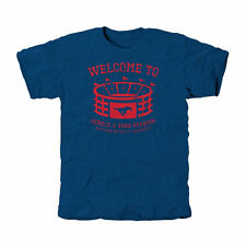SMU Mustangs Stadium Tri-Blend T-Shirt - Royal Blue