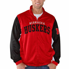 G-III Sports by Carl Banks Nebraska Cornhuskers Scarlet Wild Card Track Jacket