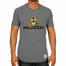 Original Retro Brand Missouri Tigers Heather Gray Vintage Tri-Blend T-Shirt