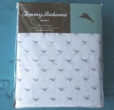 TOMMY BAHAMA MARLIN FISH QUEEN KING SHEET SET COTTON PERCALE NIP