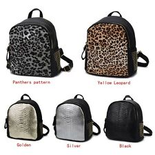 Fashion PU Leather Leopard Backpack Alligator Bookbags School Shoulder Bag Hot