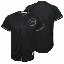 Majestic Chicago Cubs Youth Black Blackout Glow-in-the-Dark Cool Base Jersey