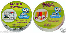 "Peanuts Charlie Brown ""Snoopy"" Magic Wash Cloth Towel 1pc Washcloth Party Favor"