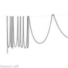 Gift Wholesale Silver Tone Links-Opened Curb Aluminum Chains 2mm x1.5mm