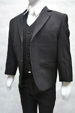 Boys Formal  Black, Boys Suit, 3PC Page Boy Wedding,, Boys Suits 1 YEARS TO 15Y