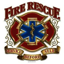 3M Reflective Window Decal Firefighter Fire Rescue Service Before Self Sticker