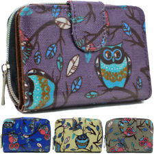 Fashion Ladies Faux Leather Owl Print Zip Small Coin Purse Womens Wallet Card Ho