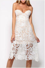 Fashion Women Elegant Lace Sexy V-neck Strapless Slim Dress