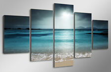 Framed Picture beach ocean sea sunset Photo Painting Canvas Home Decor Wall Art