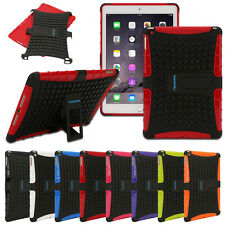 Heavy Duty Silicon Rubber Tough Shockproof Hard Cover Case for iPad 2/3/4 Mini