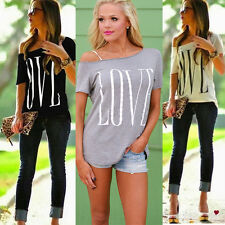 Summer Love Tops Womens Blouse Lady T Shirt Short Sleeve Fashion