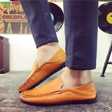 Men's England Boat Casual Leather Slip On Loafers Moccasins Driving Shoes Flats