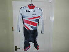 SKY Adidas Team LS Skinsuit --- GB OFFICIAL Authentic cycling bike padded shorts