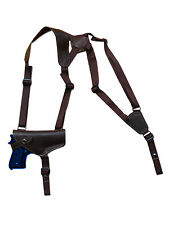 NEW Barsony Horizontal Brown Leather Shoulder Holster Colt Browning Full Size