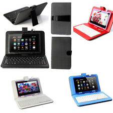 """USB Keyboard & Leather Case Pouch Cover for 7"""" Android Windows Tablet"""
