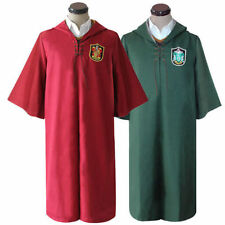 Harry Potter Adult Robe Cloak Gryffindor Slytherin Quidditch cosplay costumes