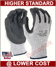 120 Pairs HPPE Shell Foam Nitrile Coating Cut Resistant Gloves Gray S,M,L,XL