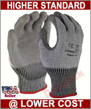 120 Pairs HPPE Shell PU Coating Cut Resistant Protection Gloves Gray S,M,L,XL