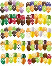 12 pc Polka Dot Latex Balloons Halloween Thanksgiving Inspired Party Decoration