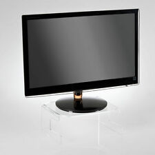 Fixed Ergonomic Flat Screen Riser Monitor Stand With Integrated Keyboard Tray