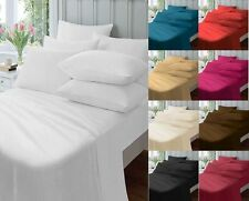 PERCALE BED LINEN BEDDING FITTED, FLAT, VALANCE, EXTRA DEEP SHEETS, PILLOWCASES