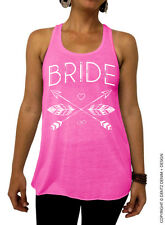Bride - Feathers and Arrows Bridal Collection - Pink/White Flowy Tank Top